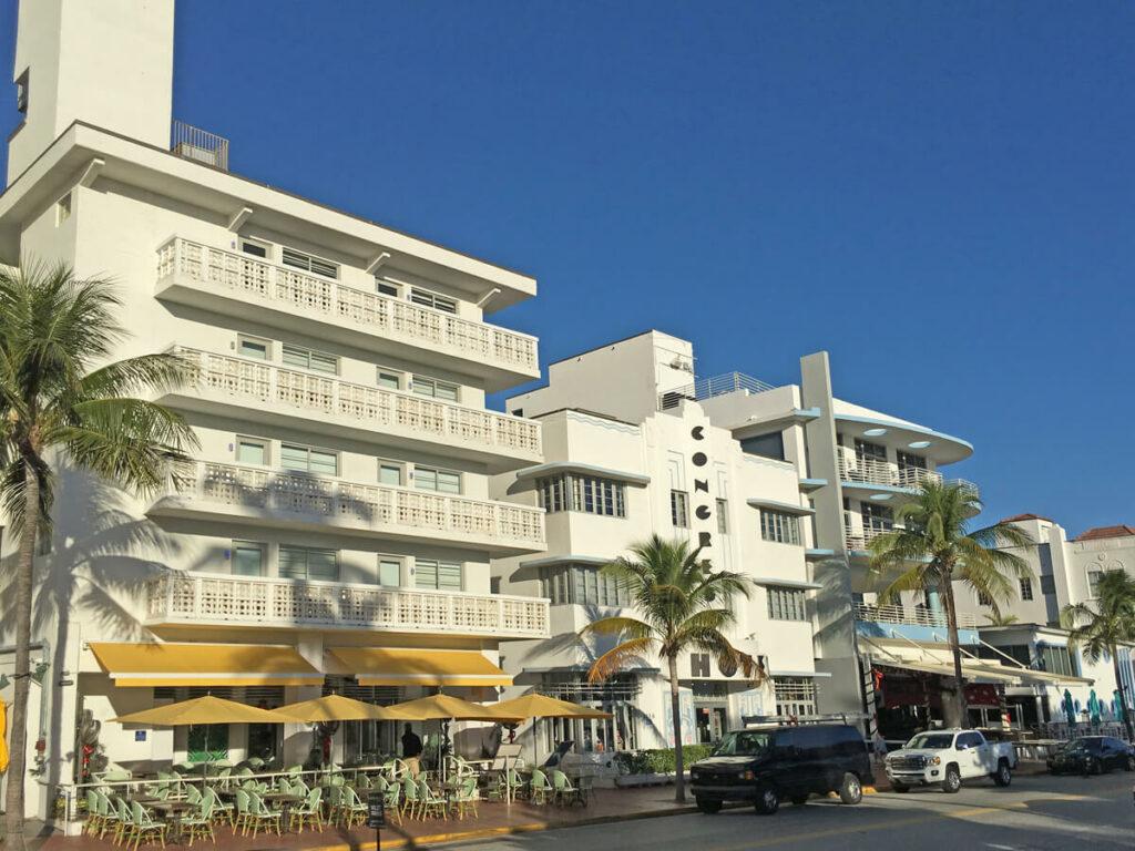 Art Deco District Hotrel auf dem Ocean Drive