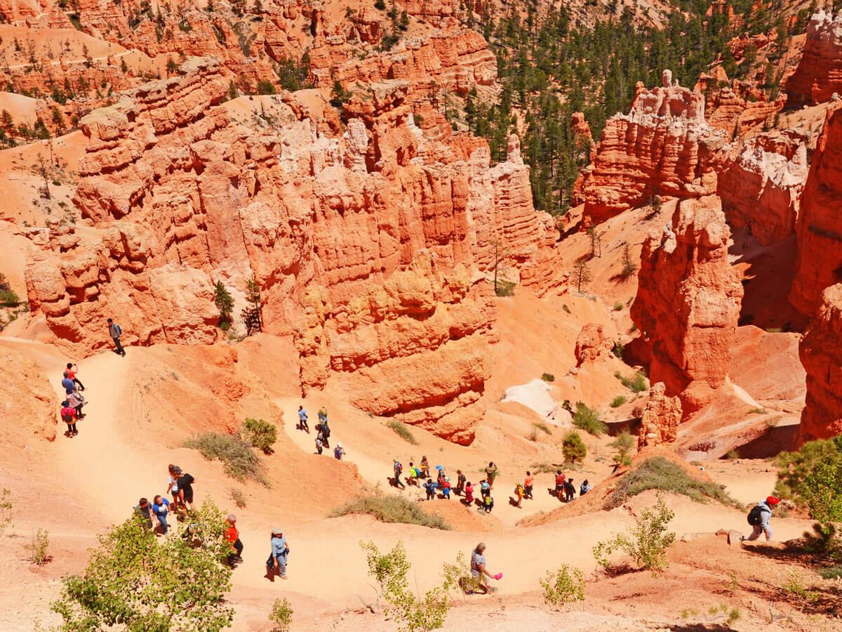 Zick-Zack Wanderweg im Bryce Canyon