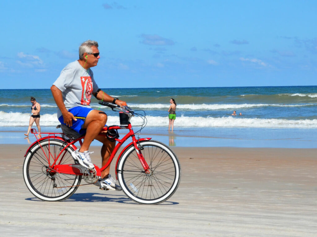 Auf dem Strand in Daytona Beach