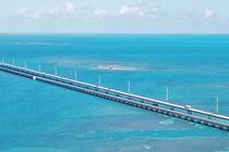 Die 7 Mile Bridge aus der Luft