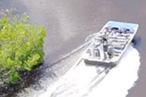 Ein Airboat in den Everglades