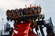 Achterbahn Fahrt im Busch Gardens