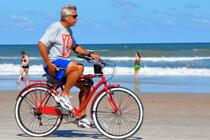 Fahrradfahrer in Daytona Beach
