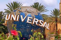 Universal Studios Kugel vor dem Eingang