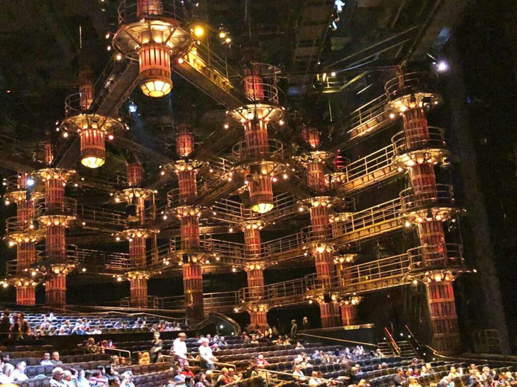 Sitzplätze in der Show Ka von Cirque du Soleil