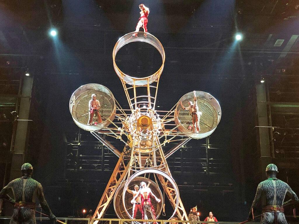 Todesrad in der Show Ka von Cirque du Soleil