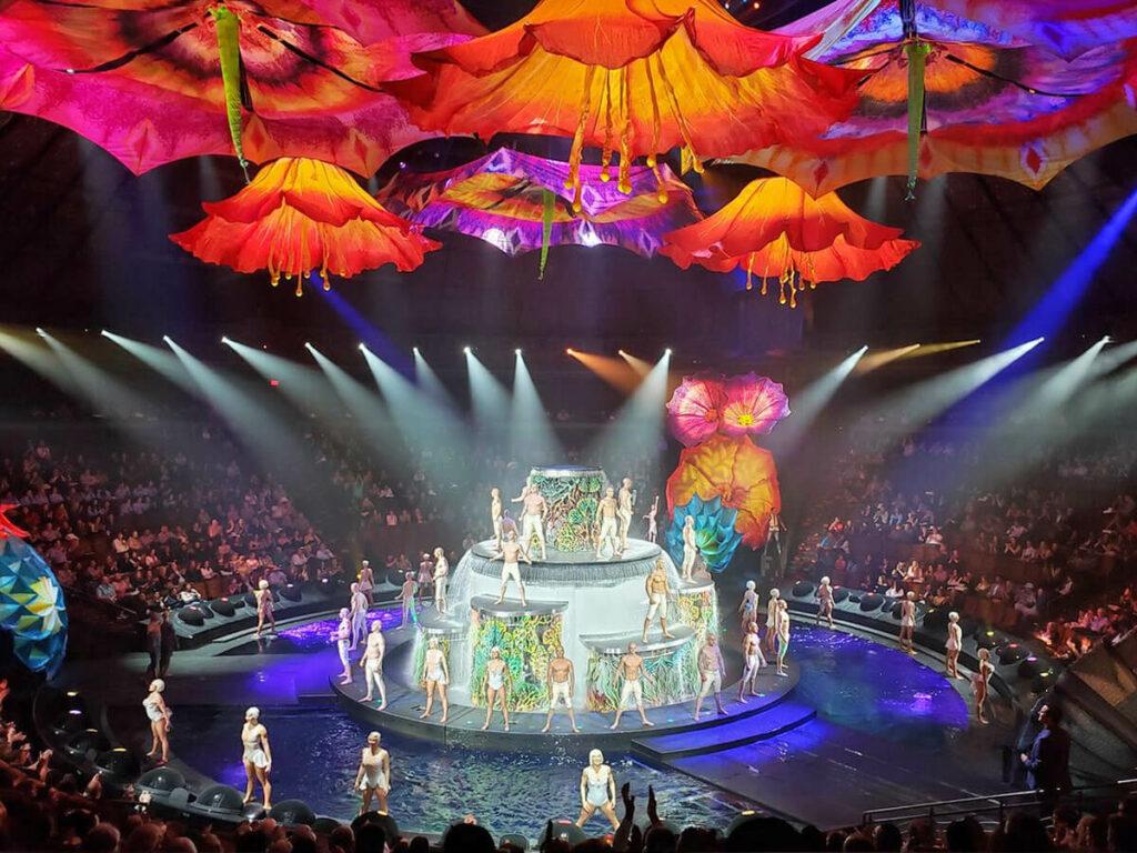 Künstler Aufstellung einer Las Vegas Show
