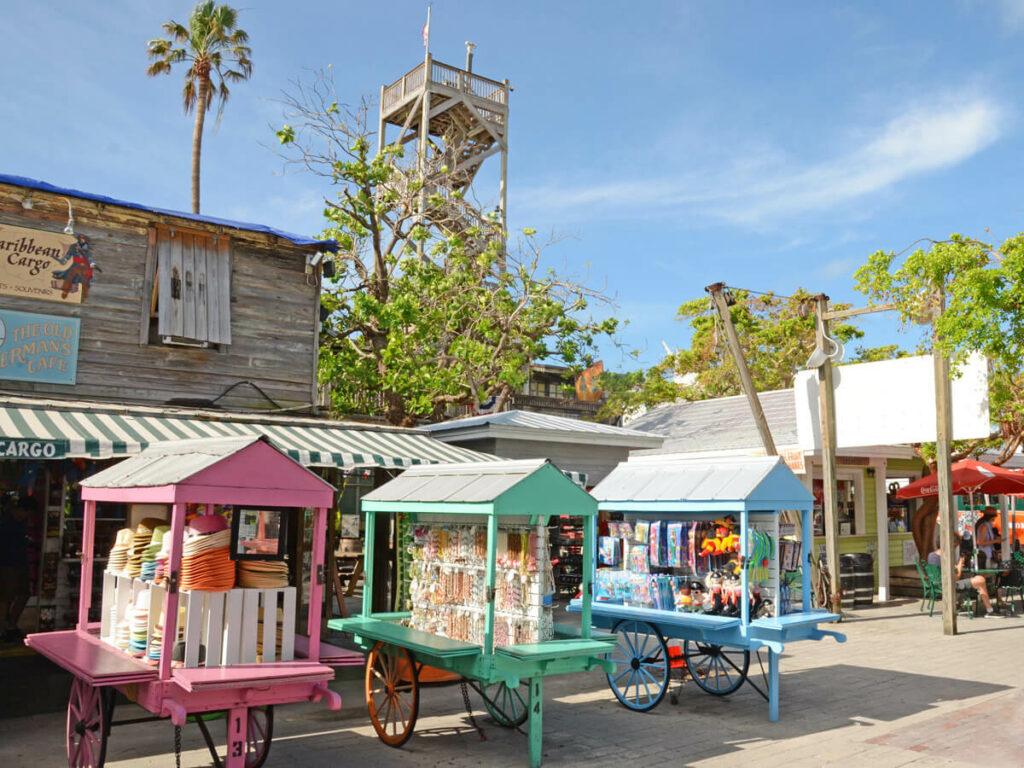 Kleine Shops am Mallory Square