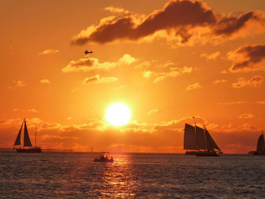 Sonnenuntergang am Mallory Square in Key West