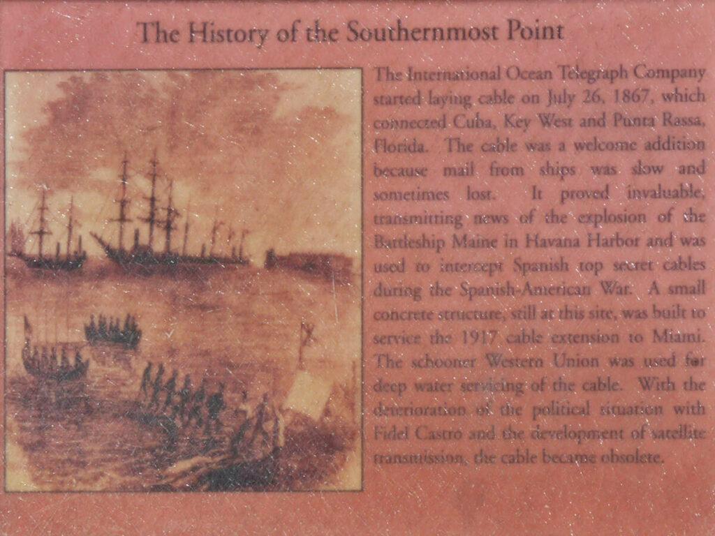 Infotafel mit Historischen Hintergründen vom Southernmost Point