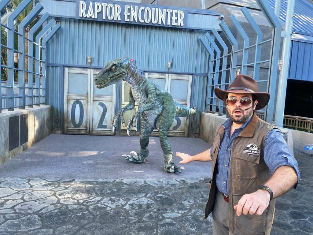 Raptor Show in den Uiversal Studios