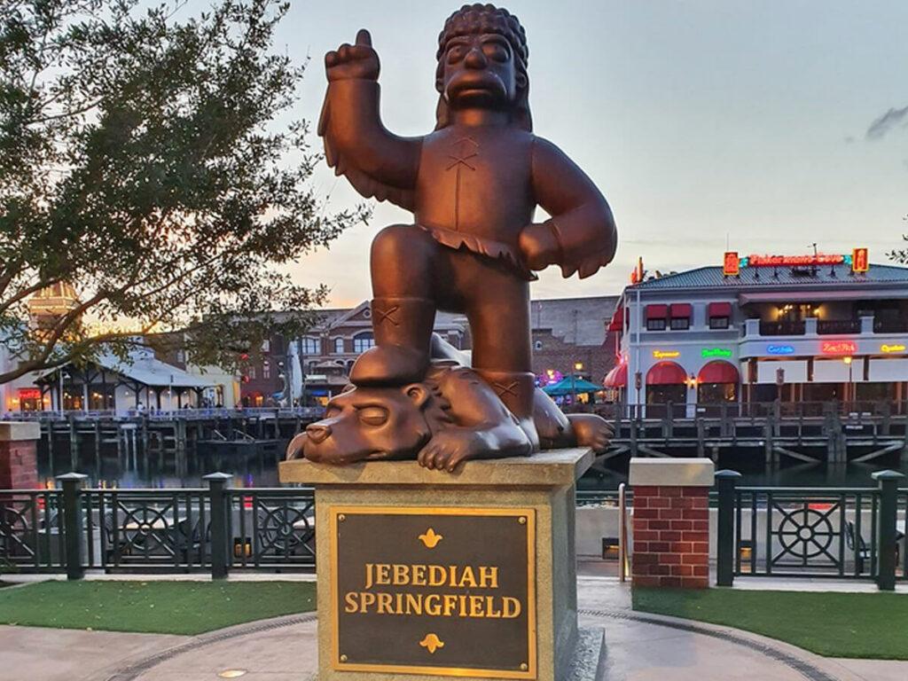 Statue vom Jebediah aus Springfiield aus den Simpsons