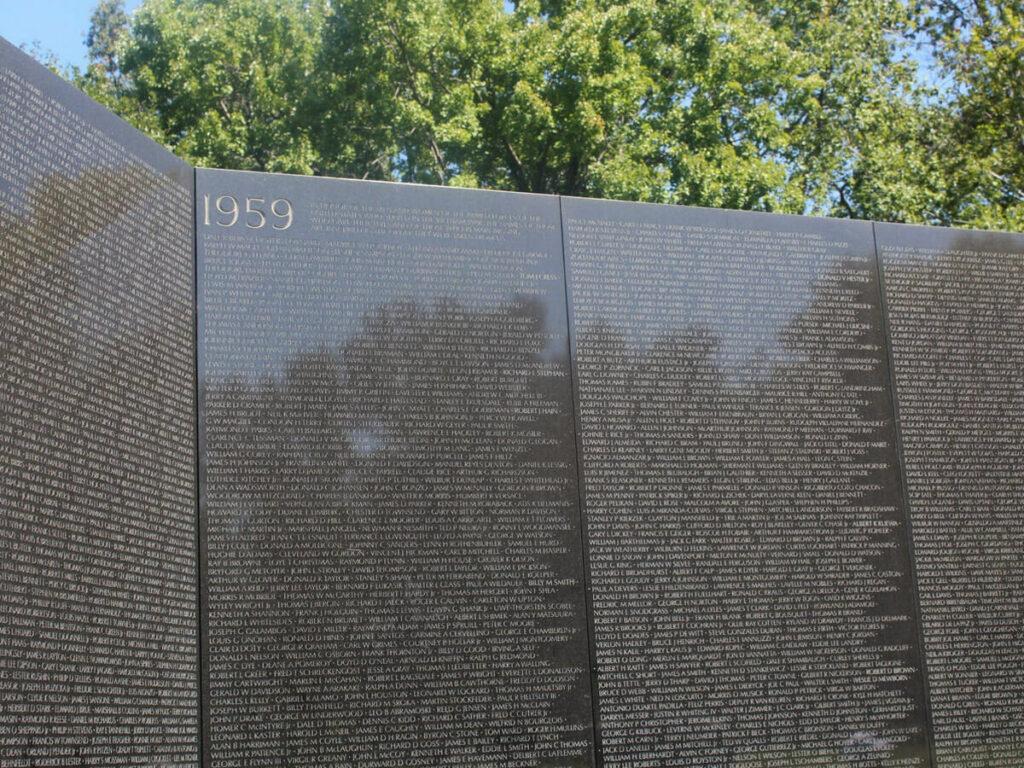 Namen der gefallenen Soldaten im Korea Krieg