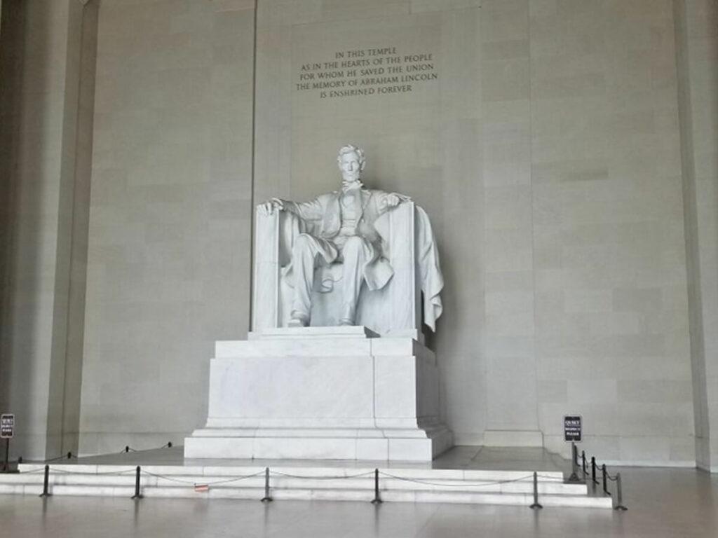 Asperrung im Lincoln Memorial