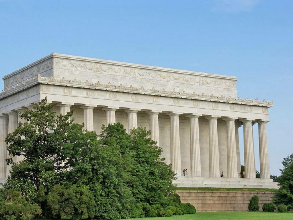 Das Lincoln Memorial von der Rückansicht