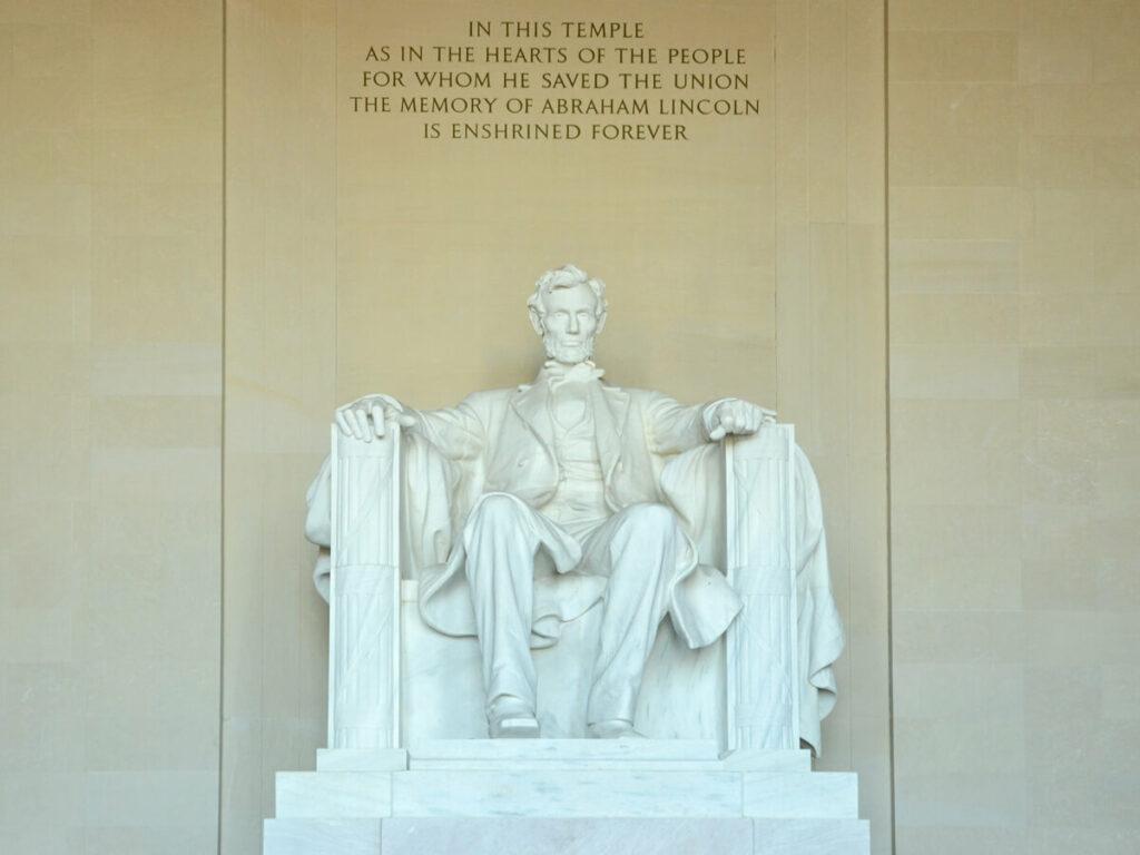 Statue vob Licoln in Washington