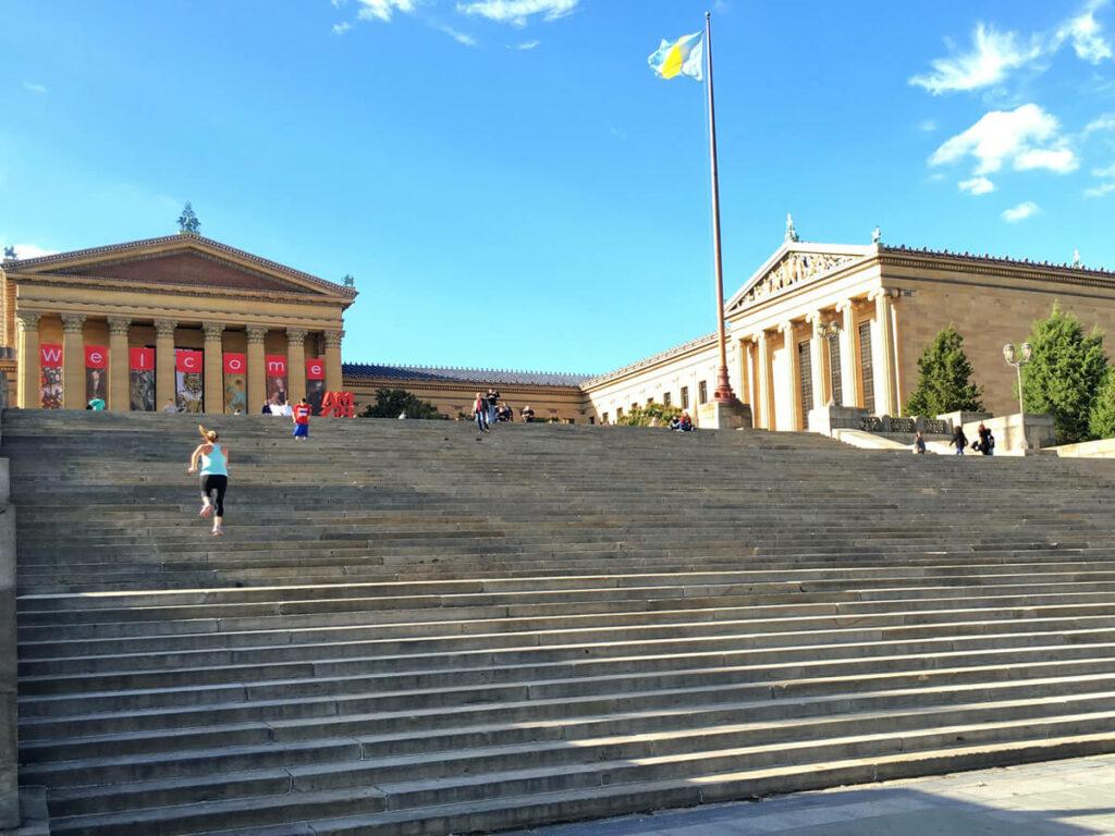 Die Treppen welche als Rocky Steps bezeichnet werden