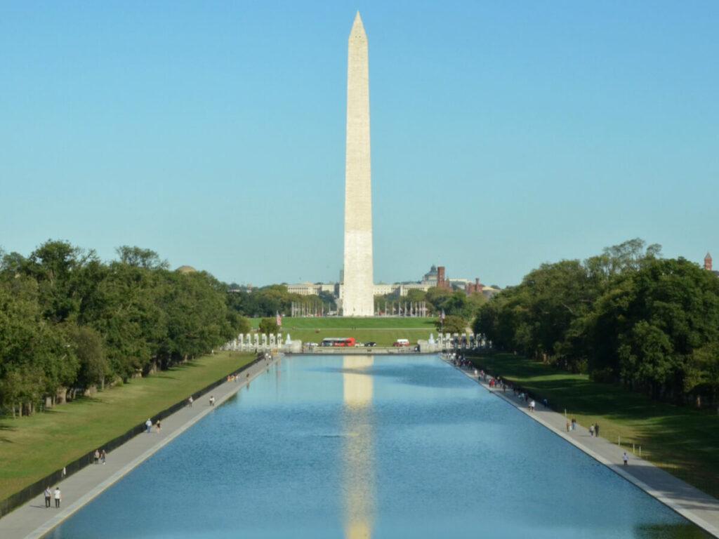 Blick vom Lincoln Memorinal auf das Washington Monument
