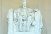 Lincoln in seinem Memorial