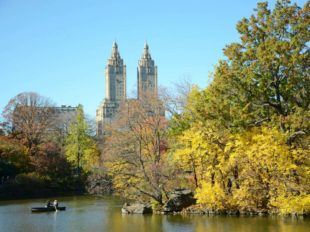 Pärchen in einem Ruderboot im Central Park