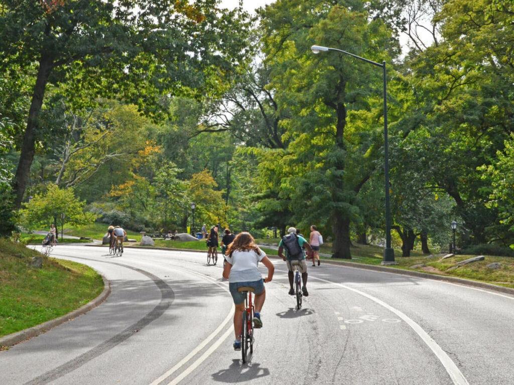 Mit dem Fahrrad durch den Central Park