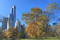 Blick vom Central Park auf die Skyline von New York