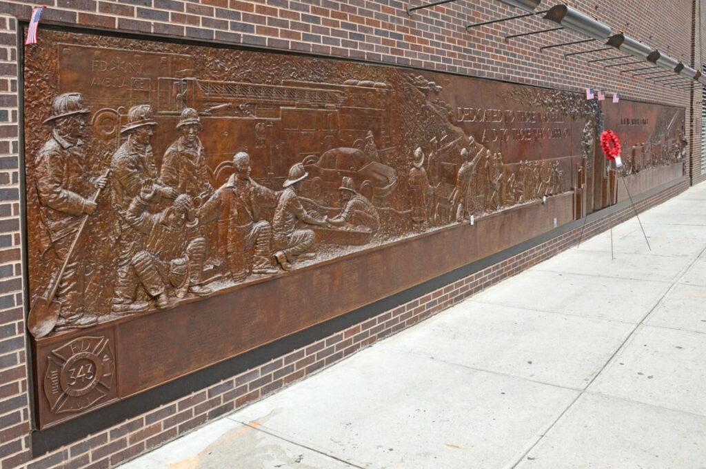Gedenktafel für die Feuerwehr am Ground Zero 9/11