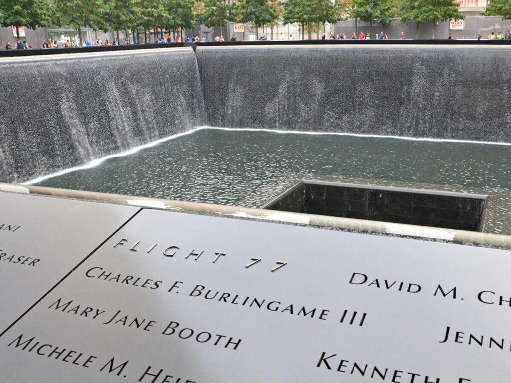 Namen der Opfer vom Flug 77 am Ground Zero