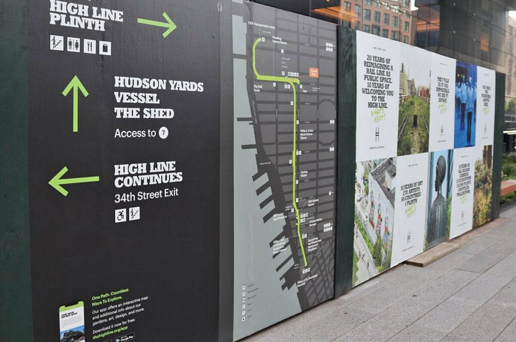 High Line Übersicht der Länge