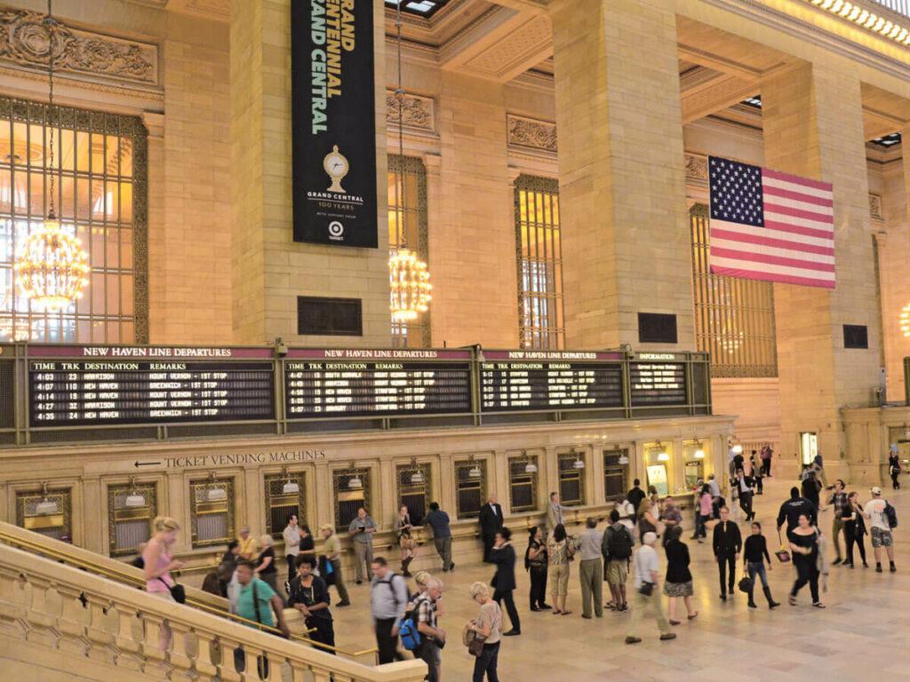 Infotafel im Grand Central Station in New York
