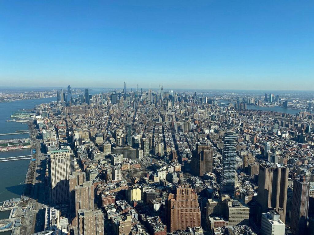 Blick nach Nord Manhattan