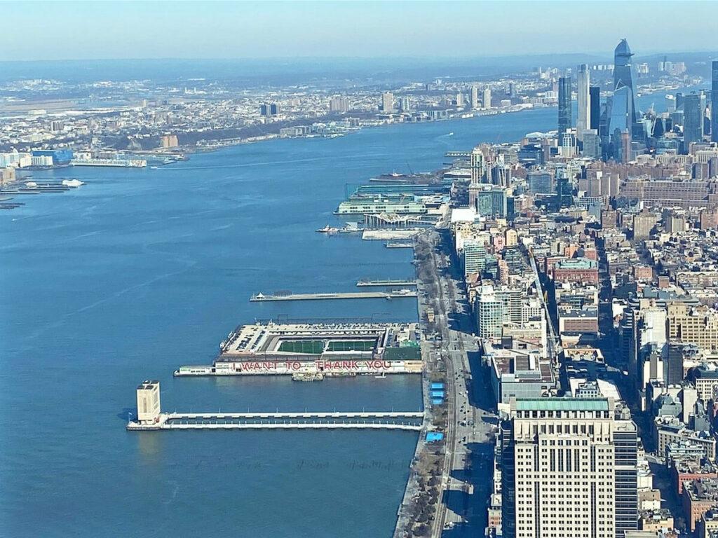 Blick auf West Manhattan