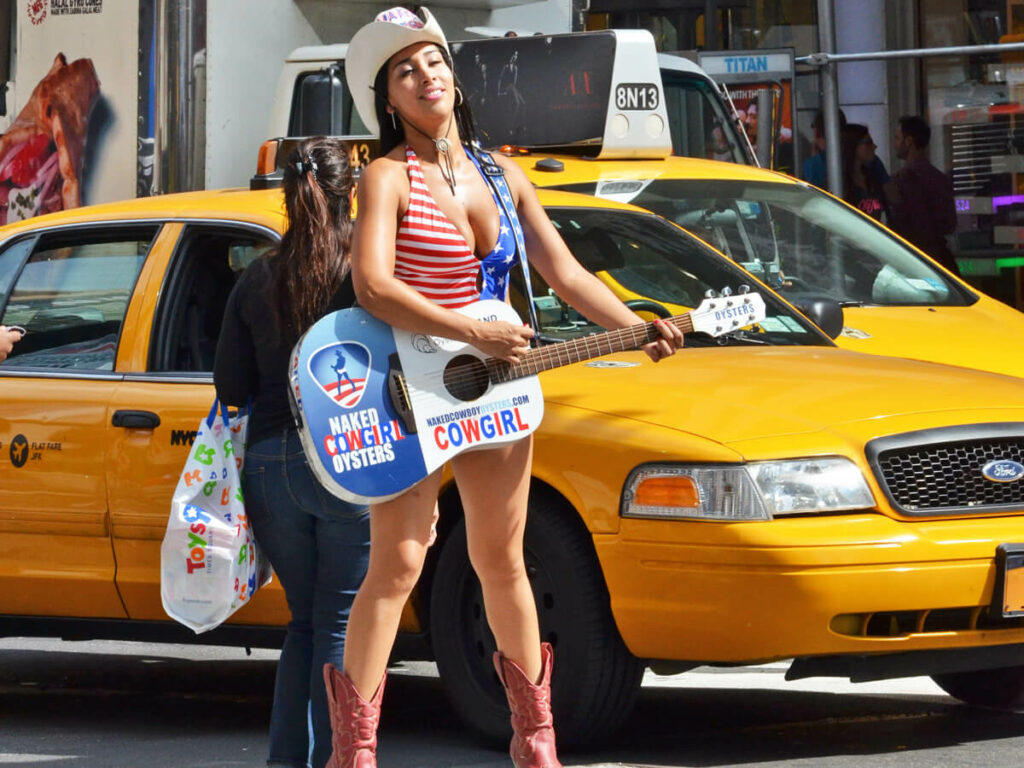 Cowgirl am Times Square