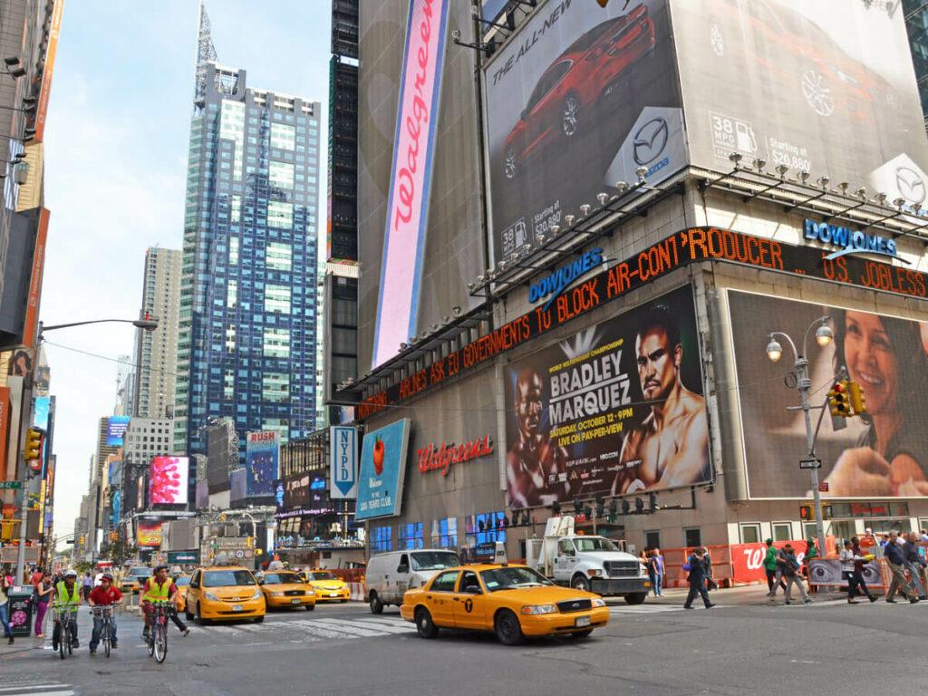 Kreuzung am Times Square