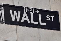 Straßenschild auf der Wall Street