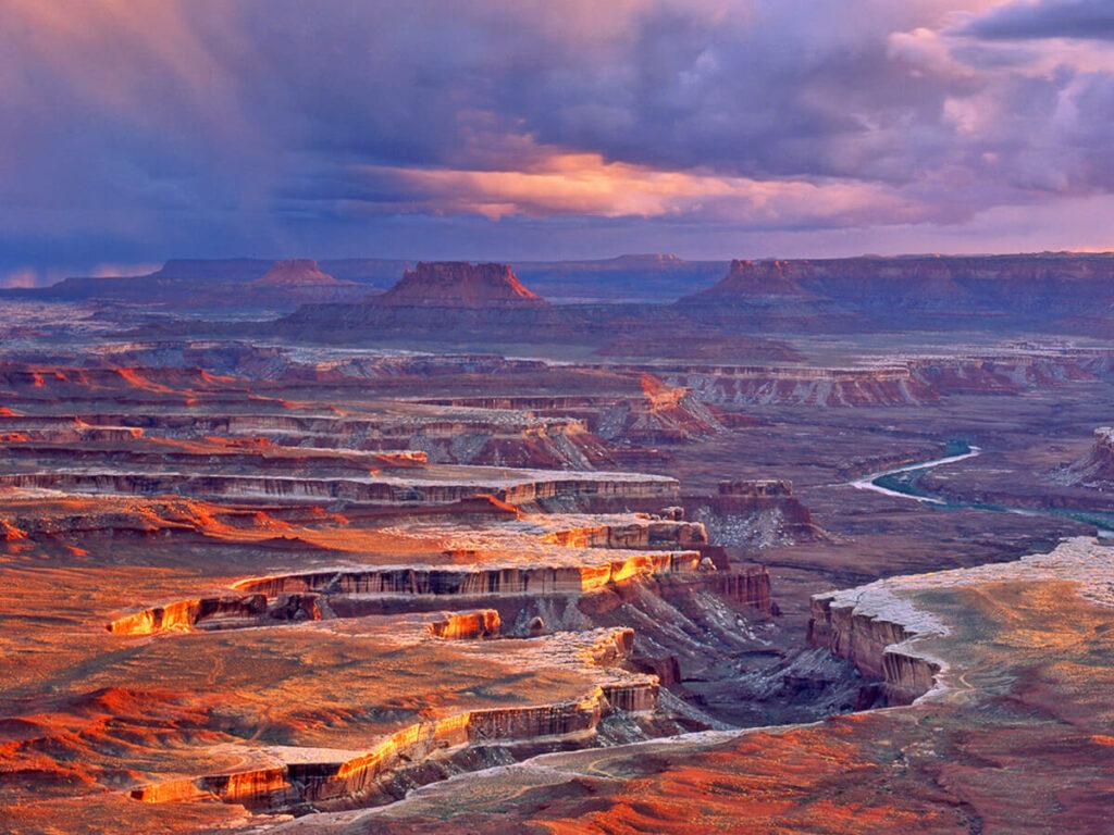 Blick vom Aussichtspunkt Green River im Canyonlands