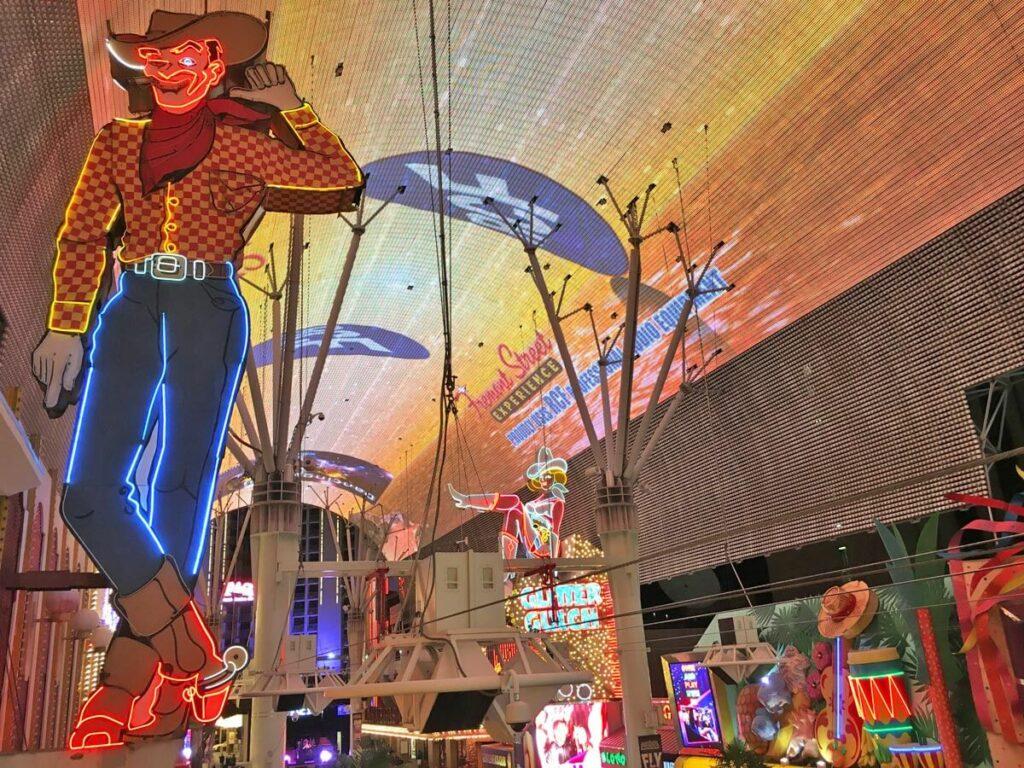 Cowboy in Downtown Las Vegas