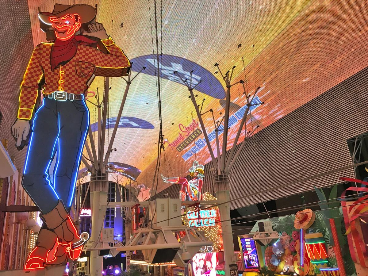 LED Show in Downtown Las Vegas