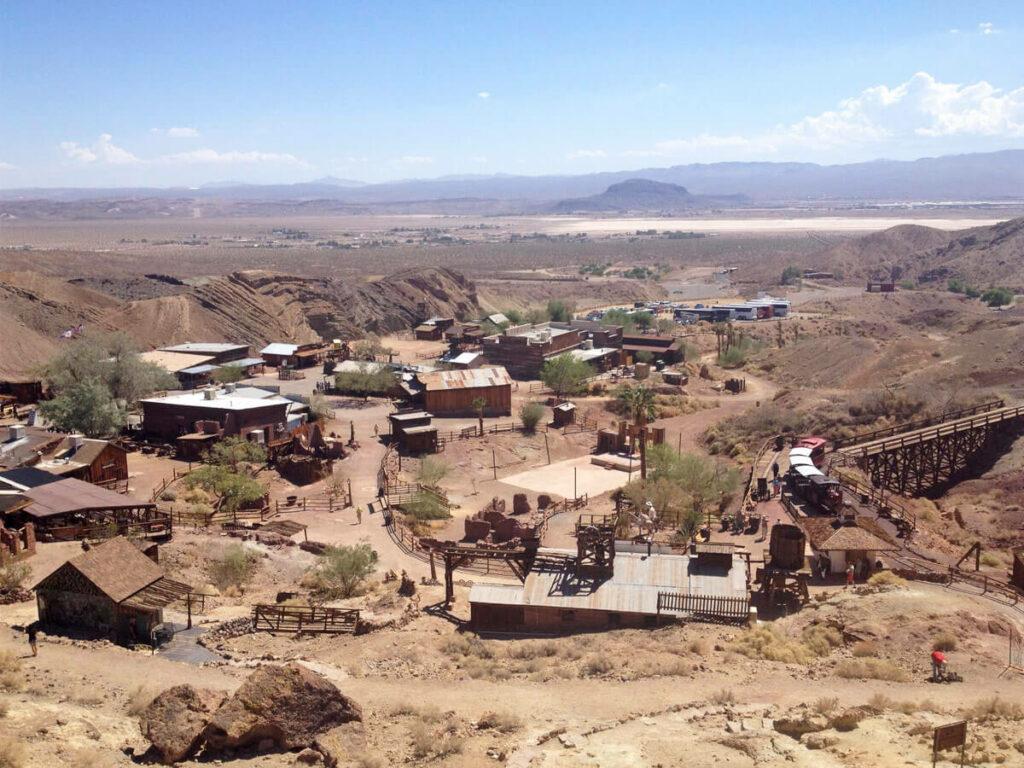 Übersicht der Geisterstadt Calico