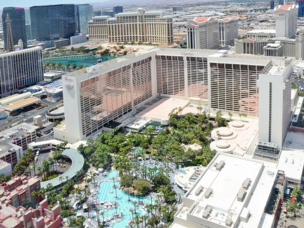 Blick auf das Flamingo Hotel in Las Vegas