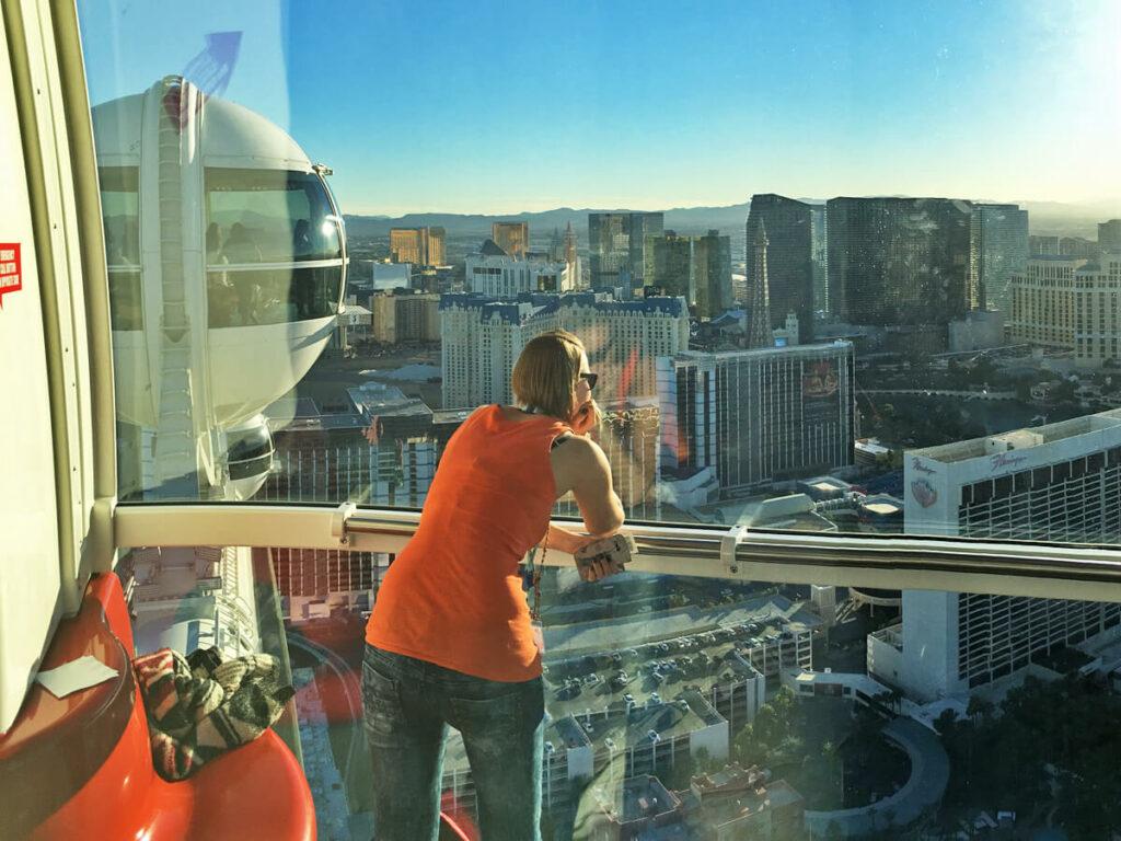 Aussicht aus dem High Roller in Las Vegas