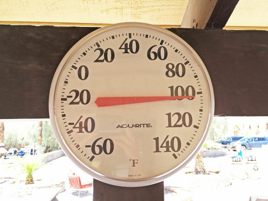 101°F in der Death Valley Oase