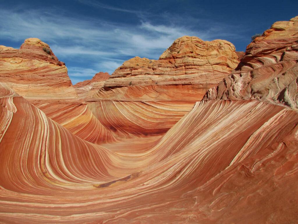 Seitental des The Wave in Arizona