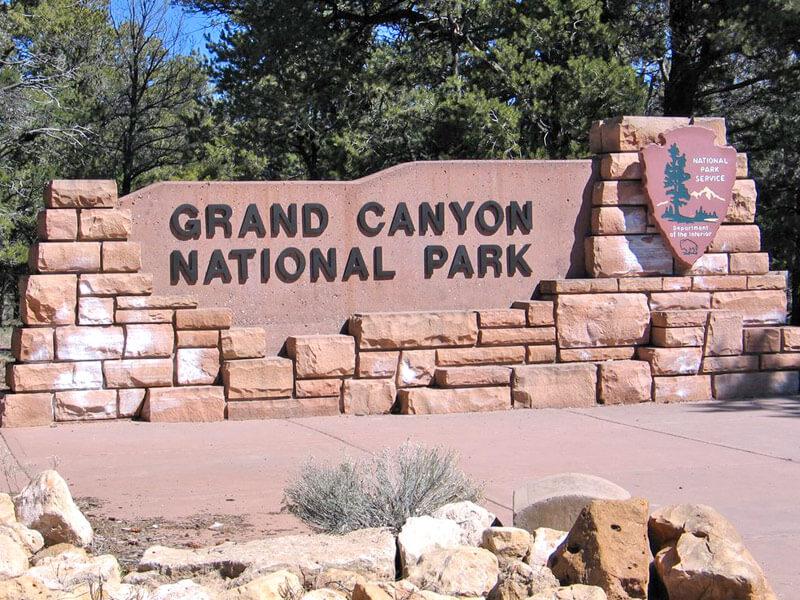 Grand Canyon NP Schild