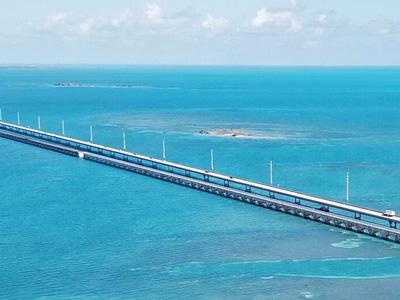 7 Mile Bridge verbindet die Keys in Florida