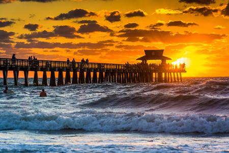 Sonnenuntergang auf Florida Reisen