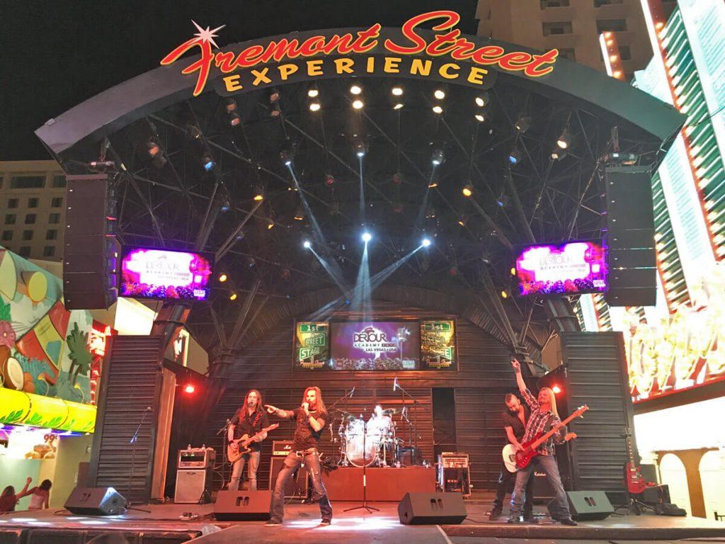 Bühne auf der Fremont Street