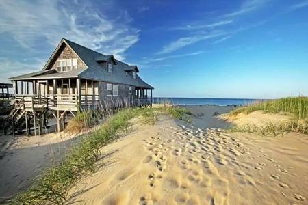 Strandhaus während der Georgia Reise