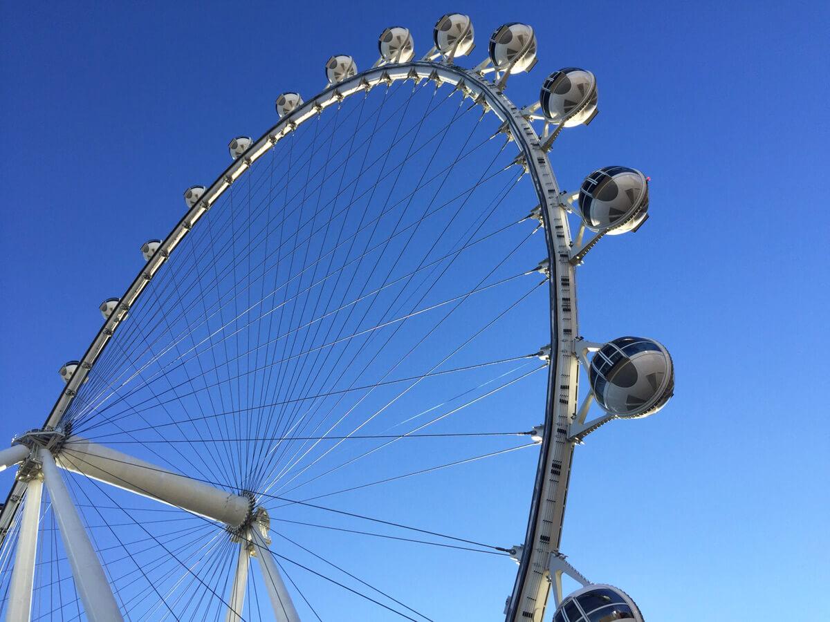 Blick von unten auf das Riesenrad