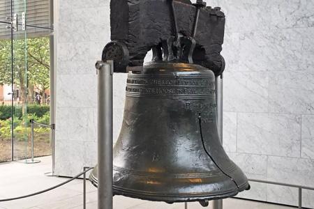 Liberty Bell auf der Reise von New York nach Washington